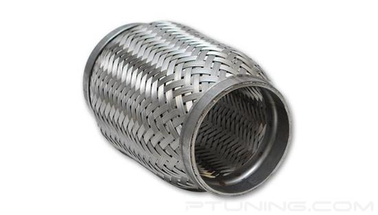 "Picture of Flex Coupling with Inner Braid Liner, 2.5"" ID Inlet/Outlet, 4"" Flex length, Stainless Steel"