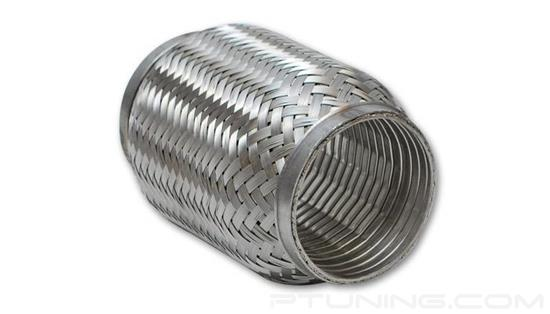"""Picture of Turbo Flex Coupling with Interlock Liner, 5"""" ID Inlet/Outlet, 8"""" Flex length, Stainless Steel"""