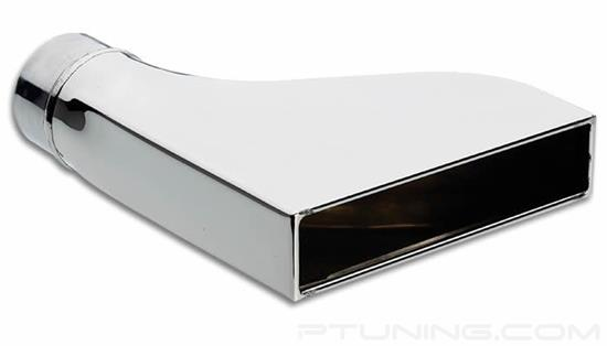"""Picture of Rectangular Single-Wall Exhaust Tip (2.5"""" Inlet, 9.5"""" Length, 304 SS)"""