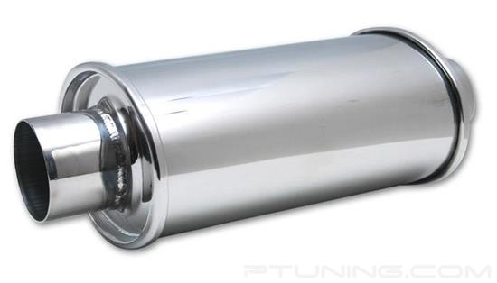 """Picture of Ultra Quiet Exhaust Resonator, 2.25"""" ID Inlet/Outlet, 14"""" Length, 304 SS"""