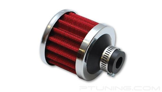 "Picture of Crankcase Breather Filter with Chrome Cap, 1/2"" ID Inlet"