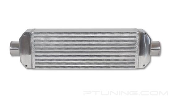 """Picture of Air-to-Air Intercooler, 26"""" Width x 6.5"""" Height, 3.25"""" Thick, 2.5"""" OD Inlet/Outlet, Aluminum Bar and Plate, 350 HP"""