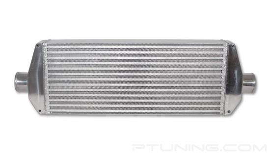 """Picture of Air-to-Air Intercooler, 30"""" Width x 9.25"""" Height, 3.25"""" Thick, 2.5"""" OD Inlet/Outlet, Aluminum Bar and Plate, 550 HP"""
