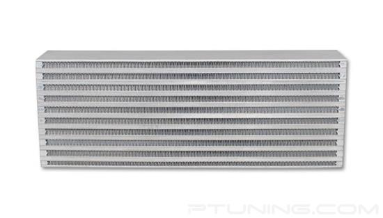 "Picture of Horizontal Flow Air-to-Air Intercooler Core, 18"" Width x 6.5"" Height, 3.25"" Thick, Aluminum Bar and Plate, 350 HP"