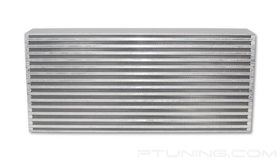 """Picture of Horizontal Flow Air-to-Air Intercooler Core, 22"""" Width x 9"""" Height, 3.25"""" Thick, Aluminum Bar and Plate, 550 HP"""