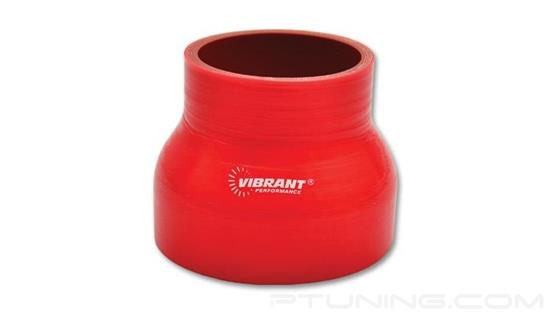 """Picture of Silicone Reducer Coupler, 4-Ply, 3"""" to 4"""" OD, 3"""" Length - Red"""