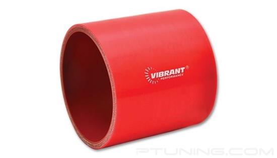 """Picture of Silicone Straight Coupler, 4-Ply, 3"""" ID, 3"""" Length - Red"""