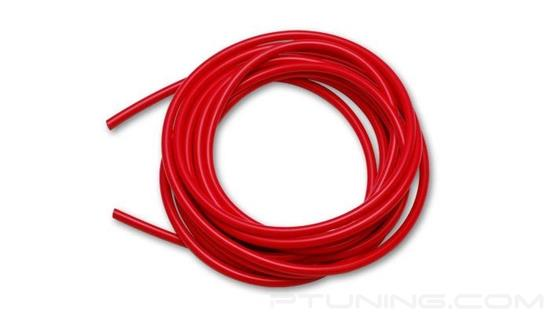 """Picture of Silicone Vacuum Hose, 3/4"""" (19mm) ID, 10 Foot Length - Red"""