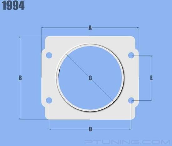 """Picture of Mass Air Flow Sensor Adapter Plate with 3"""" ID Filter Inlet for Subaru, Aluminum"""