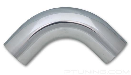 """Picture of Aluminum 90 Degree Mandrel Bend Tubing, 3"""" OD, 4.5"""" CLR - Polished"""
