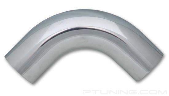"""Picture of Aluminum 90 Degree Mandrel Bend Tubing, 4"""" OD, 5"""" CLR - Polished"""