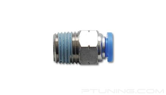 """Picture of 1/4"""" OD Tubing to 1/8"""" NPT Male Straight Push-To-Connect Pneumatic Fitting"""