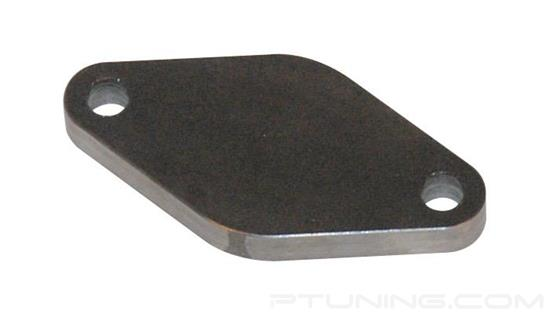 "Picture of 35-38mm 2-Bolt External Wastegate Block-Off Flange with Drilled Holes, 3/8"" Thick, Mild Steel"