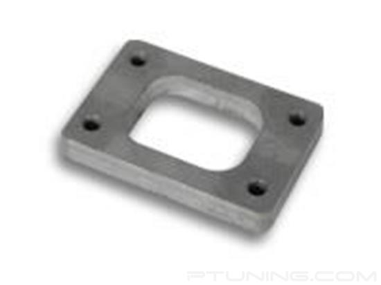 "Picture of T25/T28/GT25 Turbine Inlet Flange with Tapped Holes, 40mm x 50.8mm Inlet, 1/2"" Thick, 304 SS"