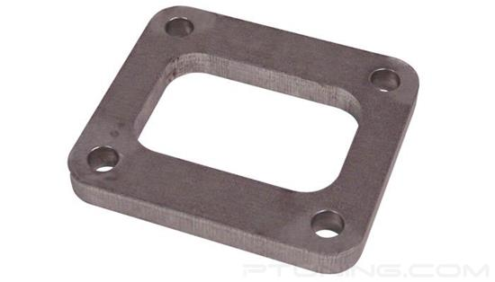 """Picture of T04 Turbine Inlet Flange with Drilled Holes, 50.71mm x 76.82mm Inlet, 1/2"""" Thick, 304 SS"""