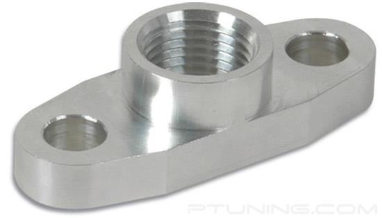 "Picture of Billet Aluminum 1/2"" NPT Female Oil Drain Flange for T3, T3/T4, T04 Turbo"