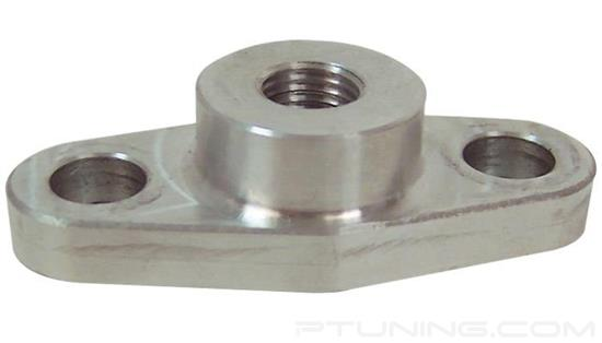 """Picture of Billet Aluminum 1/8"""" NPT Female Oil Feed Flange for T3, T3/T4, T04, GT40-GT47 Turbo"""