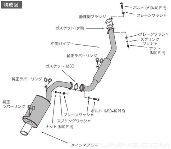 Picture of Legal Series 409 SS Cat-Back Exhaust System with Single Rear Exit
