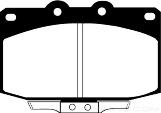 Picture of Ultimax OEM Replacement Front Brake Pads