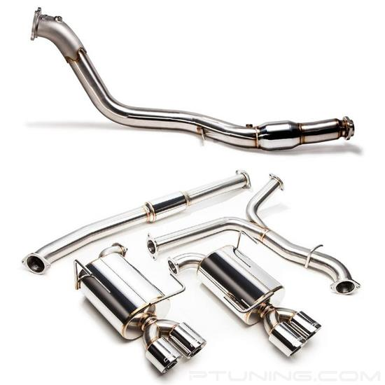 Picture of 304 SS Turbo-Back Exhaust System with Quad Rear Exit