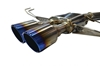 Picture of Stainless Steel Cat-Back Exhaust System with Single Muffler, Dual Titanium Burnt Tips