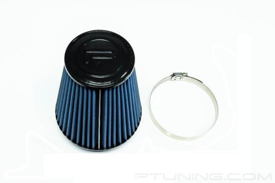 """Picture of Round Tapered Blue SuperNano Dry Cone Air Filter (4.0"""" F x 5.25"""" B x 3.5"""" T x 6"""" H)"""