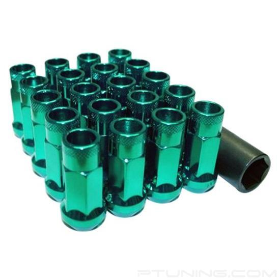 Picture of Muteki SR48 Open End Lug Nuts - Green (Cone Seat, 48mm, M12x1.25,  Set of 20)