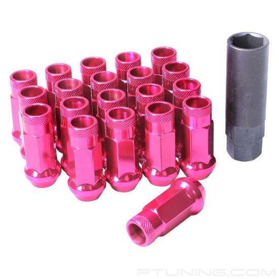 Picture of Muteki SR48 Open End Lug Nuts - Pink (Cone Seat, 48mm, M12x1.25,  Set of 20)